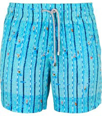 pantaloneta azul steam swimming pool