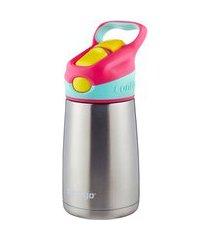 garrafa térmica infantil autospout inox rosa 295ml contigo