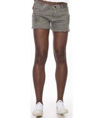 shorts & bermudas khelf cmk sh high waist col bol emb verde