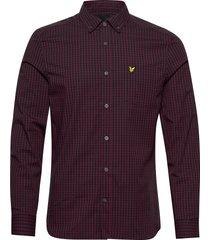 ls slim fit gingham shirt skjorta casual lyle & scott