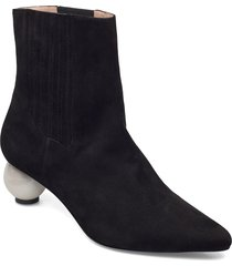 roxanne boot shoes boots ankle boots ankle boot - heel svart mother of pearl