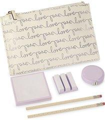 kate spade new york bridal love script 6-piece pencil pouch set