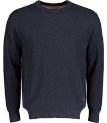 jac hensen pullover - modern fit - donkerblau