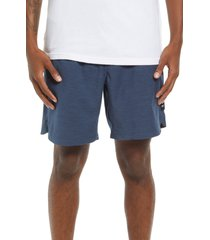 men's vans men's microplush hybrid shorts, size small - blue