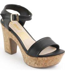 priceshoes calzado dama tacon 182485negro
