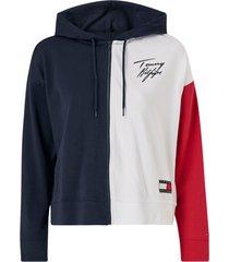 sweatshirt fz hoodie colourblock