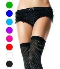 leg avenue cute women's sexy micromesh lace ruffle tanga shorts panties panty