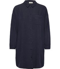 evelyn shirt overhemd met lange mouwen blauw modström