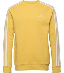 3-stripes crew sweat-shirt tröja gul adidas originals