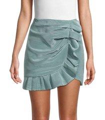 jonathan simkhai women's azalea ruffle mini skirt - ocean - size 10