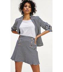tommy hilfiger women's nautical stripe skirt white/navy stripe - 6