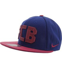 gorra azul-vinotinto  nike fcb u nk cap squad