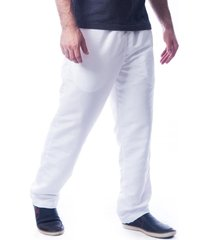 calça butu biru tactel microfibra forrada branca
