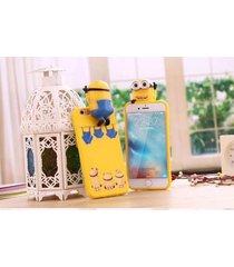 3d cute cartoon soft despicable me minion case cover for iphone 5 5s 6 6s plus