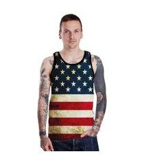 camiseta regata lucinoze american preto.