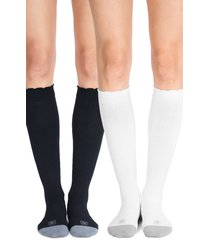 women's belly bandit 2-pack compression socks, size 2 - white