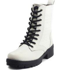 botas blanco m&m 1006a