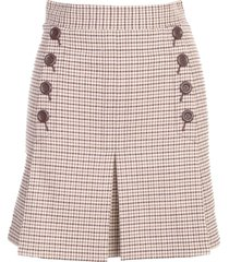see by chloé short skirt w/side buttons