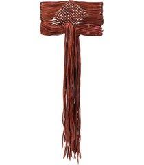 caravana xiat frayed belt - brown