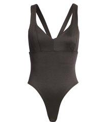 women's french connection simisola bodysuit, size large - black