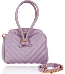 bolsa infantil campezzo couro lilás matelassê