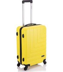 mala viagem primicia malaga abs rodas 360â° grande - amarela - azul - dafiti