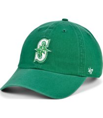 '47 brand seattle mariners kelly white clean up cap