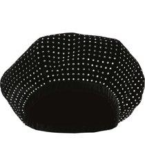 saint laurent crystal-embellished beret