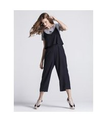 macacões khelf macacáo de alcinha e pantalona preto