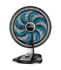 ventilador de mesa mondial vtx-40-8p-ap turbo 8 pás 40cm 3 velocidades preto e azul 110v