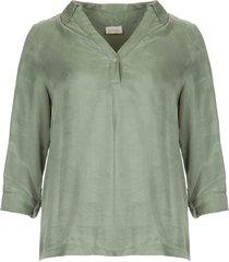 blouse met v-hals calypso  groen