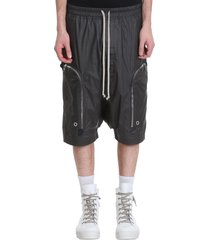 rick owens bauhaus snap fr shorts in black viscose