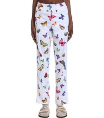 palm angels pants in beige polyester