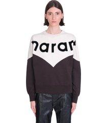 isabel marant étoile houston sweatshirt in black cotton