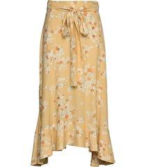adore skirt knälång kjol gul odd molly