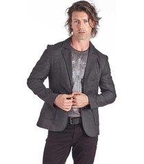 blazer convicto com bolso embutido preto - preto - masculino - poliã©ster - dafiti