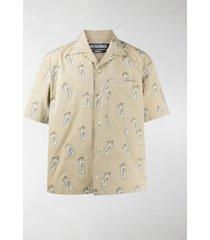 jacquemus la chemise jean printed shirt