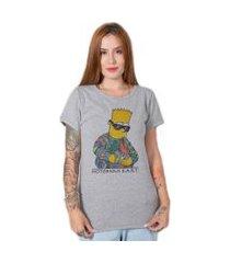 camiseta  stoned notorious bart cinza