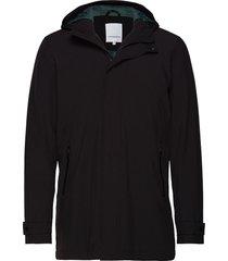 functional coat dunne lange jas zwart lindbergh