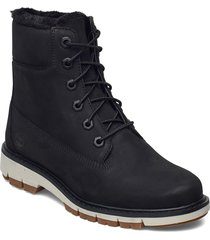 lucia way 6in warm lined boot wp shoes boots ankle boots ankle boot - flat svart timberland