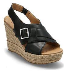 w claudeene sandalette med klack espadrilles svart ugg
