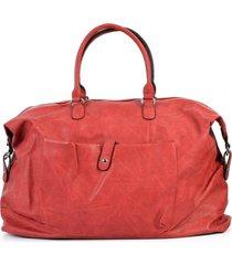 bolso de viaje bolsillo rojo mailea
