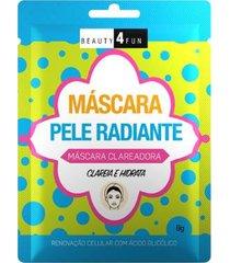máscara facial beauty 4 fun pele radiante 1 un