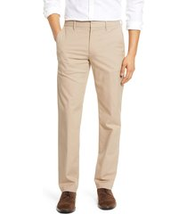 men's bonobos stretch weekday warrior slim fit dress pants, size 35 x 32 - beige