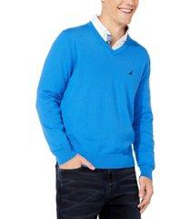 nautica men's lightweight jersey v-neck sweater