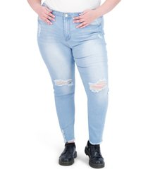 gogo jeans trendy plus size super-high-rise curvy jeggings