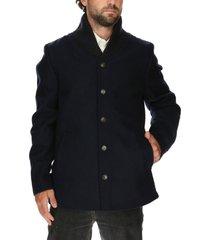 chaqueta lana azul rockford