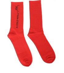 a cold wall red design socks
