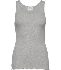 2x2 eco viscose twixy f lace t-shirts & tops sleeveless grå mads nørgaard