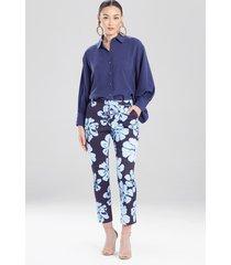 natori hoshi poplin ankle pants, women's, cotton, size 10